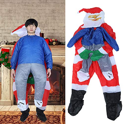 Uppblåsbar kostymdräkt, batteridriven multifunktionell söt polyestertyg 150-190 cm uppblåsbar jultomtendräkt, vattentät för årsmötesbar(Christmas hug X120)
