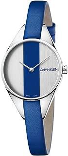 Calvin Klein Rebel Quartz Silver and Blue Dial Ladies Watch K8P231V6