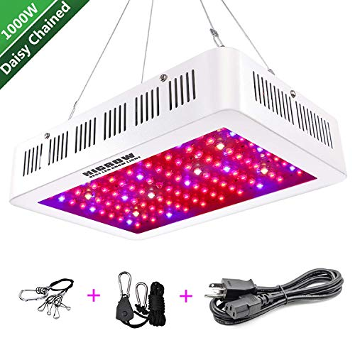HIGROW 1000W LED Grow Light, Full Spectrum Plant Light with Daisy Chain and Rope Hanger for Indoor Plants Veg and Flower