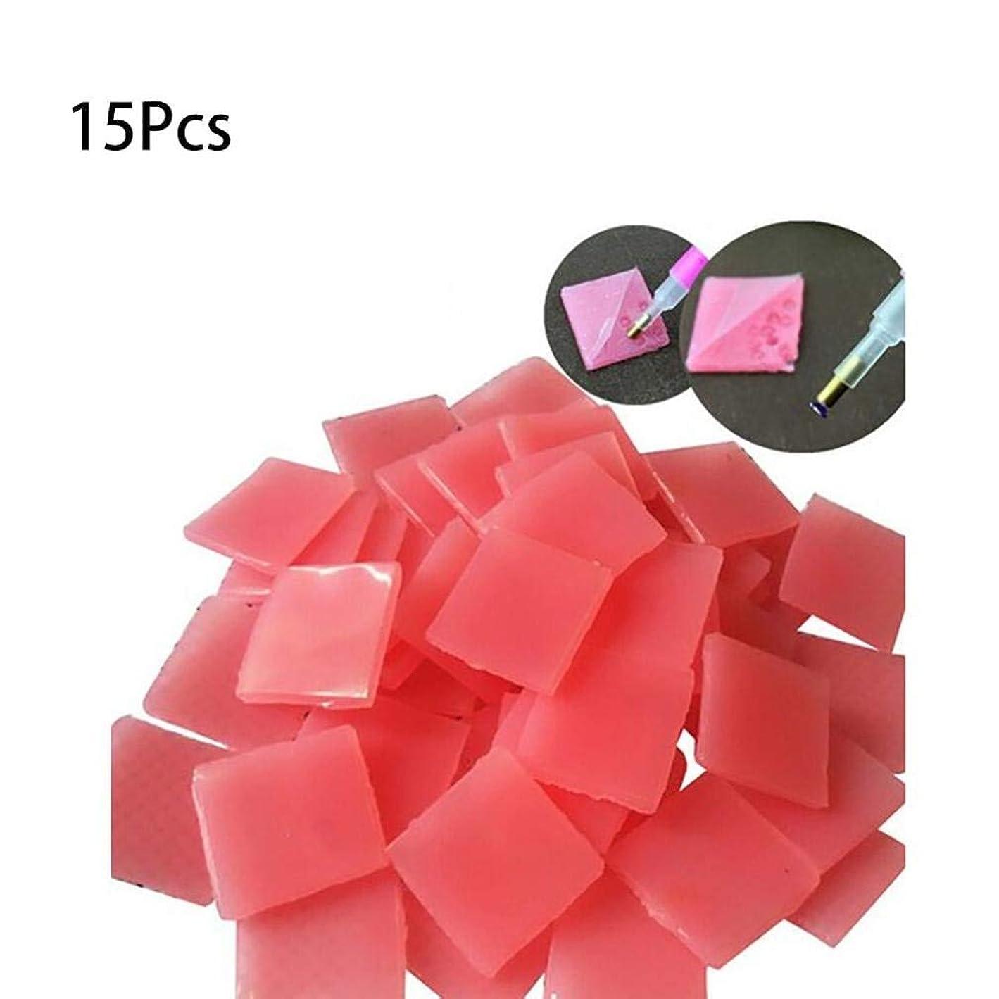 下位宣教師意欲Onior 5dダイヤモンドポイントペン、15個貼り付けDIYステッカー点描ダイヤモンドポイントペン掘削泥ネイルアートダイヤモンド刺繍ツール耐久性と実用的