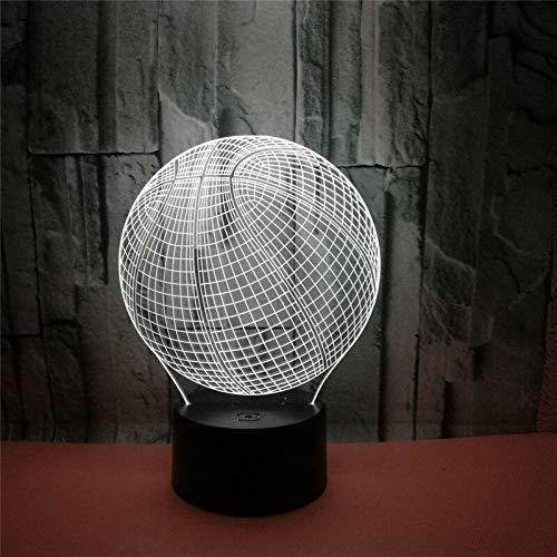 Sorpresa antes de Navidad 3D LED imagen de luz nocturna figura de acción de baloncesto toque ilusión habitación iluminación regalo