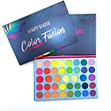 Matte Glitter Paleta de sombras de ojos Fluorescente Rainbow Disk Highlight Neon Pigment Paleta de sombras de ojos Maquillaje impermeable de larga duración Maquillaje de belleza (39 Colores)