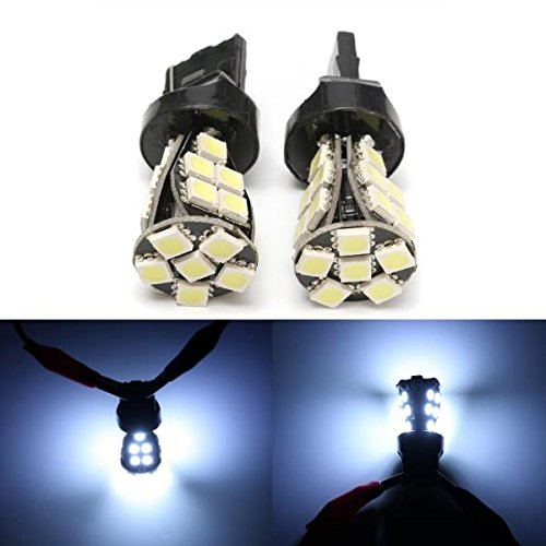 MASUNN Boveution 2pcs T20 Lampes de côté Ampoules CANbus Pas d'erreur W21 5W T20 6000K LED Blanc diurne Feux de Jour