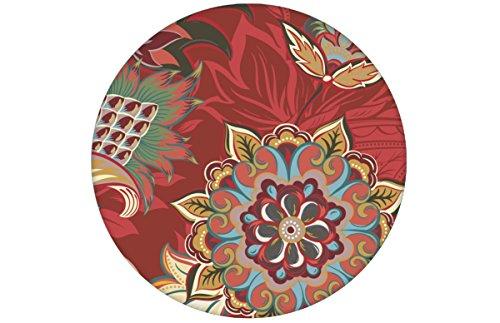 Groß gemusterte, rote Designer Tapete