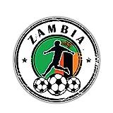 SUIFENG Pegatinas de Coche 14 Cm X 14 Cm Zambia Bandera Grunge Fútbol Sello PVC Motocicleta Coche Etiqueta