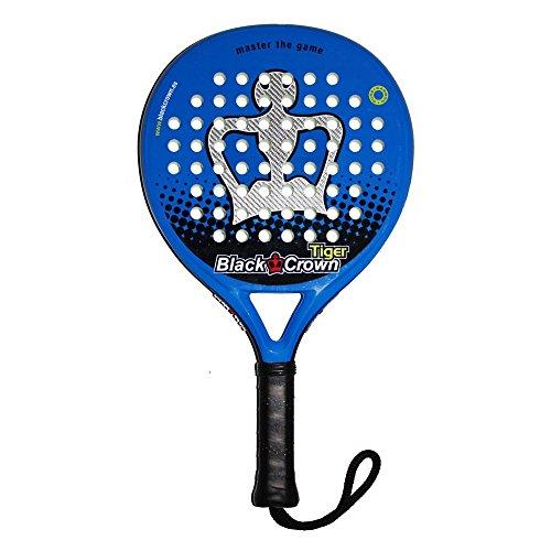 Black Crown Tiger Racchetta da Padel, Unisex, Blu, Argento, L