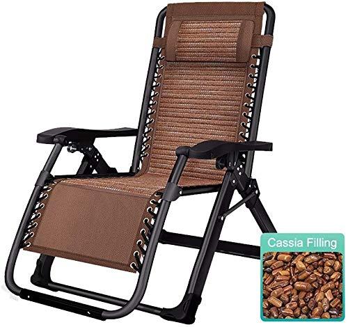 DFVV Tumbonas Tumbonas Plegable Silla Cero Gravedad, Plantas Naturales Llenado sillas de Patio Salón Tumbona