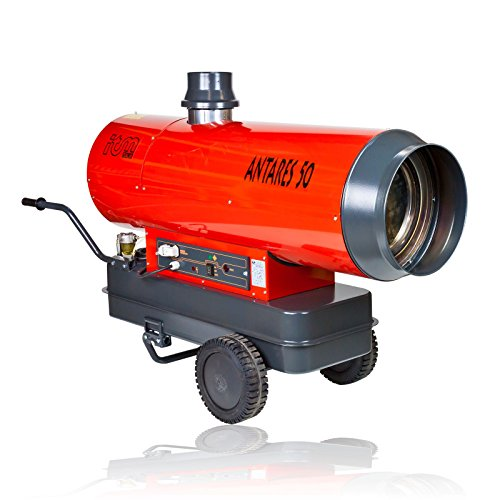 Ölheizgerät Antares 48,5 KW Diesel oder Öl Heizkanone, Heizgerät, mobil, Ölheizgebläse, Heizgebläse, Bauheizer, indirekt befeuert