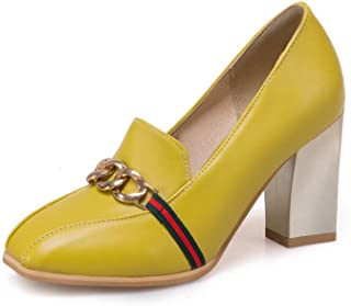 BalaMasa Womens APL11473 Pu Block Heels