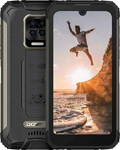 DOOGEE S59 Pro 2021 10050 mAh Batteria Rugged Smartphone, 4 GB + 128 GB, 2W Powerful Speaker IP68 Cellulare Resistenti 4G, 5,71 Pollici, Front 16MP Rear Four Fotocamera, Android 10, NFC, GPS, Nero