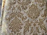 Tessuto in broccato di seta in oro beige con motivi tessitura indiani abiti di seta tessuto