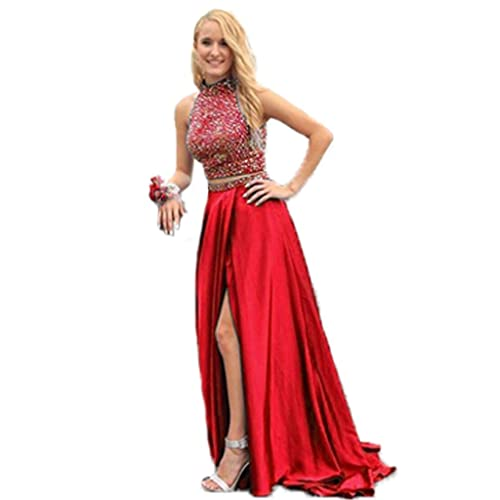 2 Piece Red Prom Dress: Amazon.com