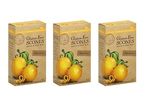 Sticky Fingers Bakeries Gluten-Free Meyer Lemon Scone Mix, 14 Ounces (3 Pack)