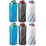 BESTZY 700ML Faltbare Wasserflaschen 6er-Set Trinkflasche Trinkrucksäcke, flexible...