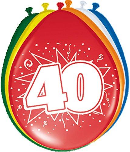 8 Ballons * 40 ans * pour anniversaire ou jubliläum//Balloons Party Multicolore Quarante