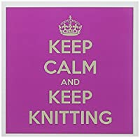 EvaDane – 面白い引用 – Keep Calm and Keep Knitting – グリーティングカード Set of 12 Greeting Cards