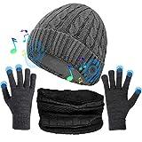 Musica Cappello, Cappello Bluetooth con Altoparlanti Stereo Integrati, Regali Unici per Uomo/Donna, Cappello Sportivo per Corsa/Arrampicata/Escursionismo, ECC (Nero)