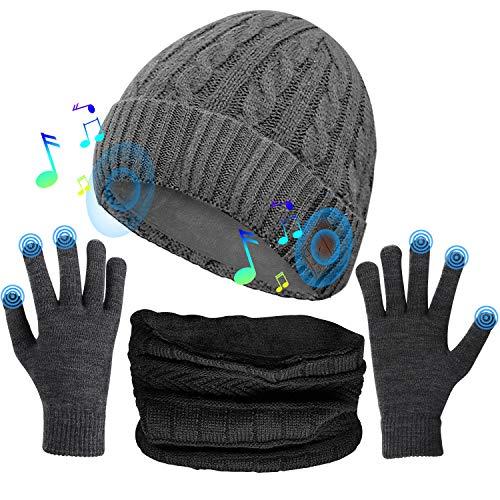 Comfine Gorro de Música, Altavoces Estéreo Incorporados de Gorro Bluetooth, Regalos Tecnológicos únicos para Hombres/Mujeres, Auriculares Gorro para Correr/Escalada/Senderismo, etc