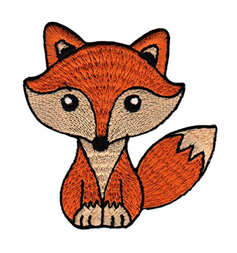 Fuchs Orange Aufnäher Bügelbild Patch Applikation