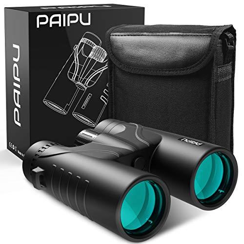 PAIPU 12x42 Fernglas HD Kompakte Ferngläser für Vogelbeobachtung, Wandern, Jagd, Sightseeing, Wasserdicht Teleskop für Erwachsene und Kinder