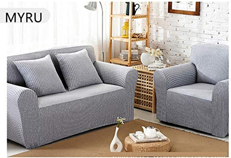 Modern Striped Sofa slipcovers Tight Wrap All-Inclusive Slip-Resistant Elastic Cubre Sofa Towel Corner Sofa Cover Couch Cover   O, Single Seater