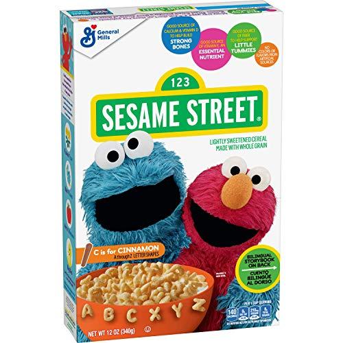 Sesame Street Breakfast Cereal, Cinnamon, 12 oz