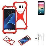 K-S-Trade® Mobile Phone Bumper + Earphones For Allview V3