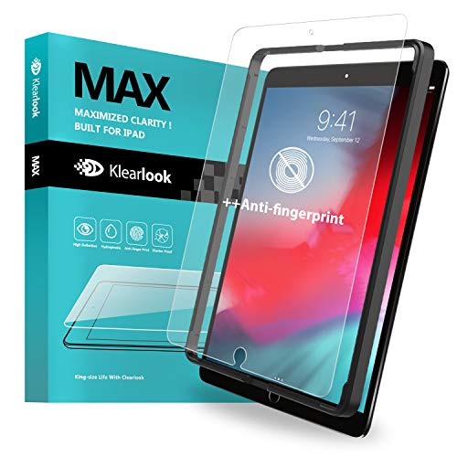 Klearlook Matte Glass Screen Cover for iPad Air 10.5 2019 / iPad Pro 10.5 2017 with Install Frame, Anti-Glare Tempered Glass Screen Protector with Face ID Compatible/Anti-Reflection/Anti-Fingerprint