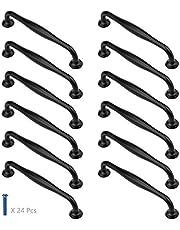 12 Pack zwarte kastdeuren Pull handgrepen 128mm gat Centre aluminium keuken kast handgrepen boog vorm meubels laden knoppen