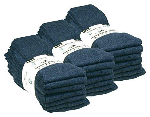 VCA 24 Paar Sportsocken, Tennissocken in 5 verschiedenen Farben, Damen und Herren Socken