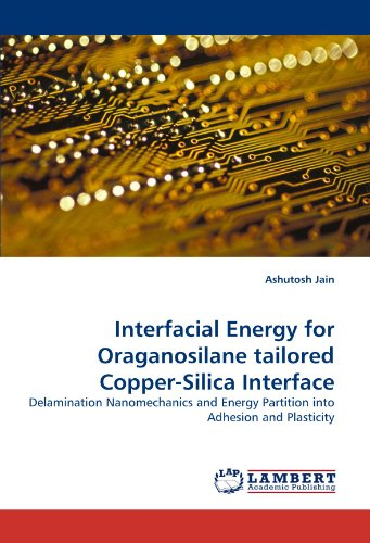Interfacial Energy for Oraganosilane tailored Copper-Silica Interface: Delamination Nanomechanics and Energy Partition into Adhesion and Plasticity