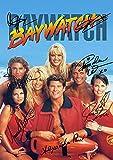 Baywatch Poster mit Autogrammen von Pamela Anderson, David