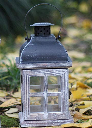 CFLFDC Kandelaar Dorp Kandelaar Ornamenten Hout Om Oude Wind Lamp Wind-proof Kandelaar Huisraad Decoratie