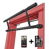 Barre de Tractions Porte Sans Fixation + Guide d'Entraînement | Barre Fixe de Musculation pour Encadrement de Porte, Amovible...