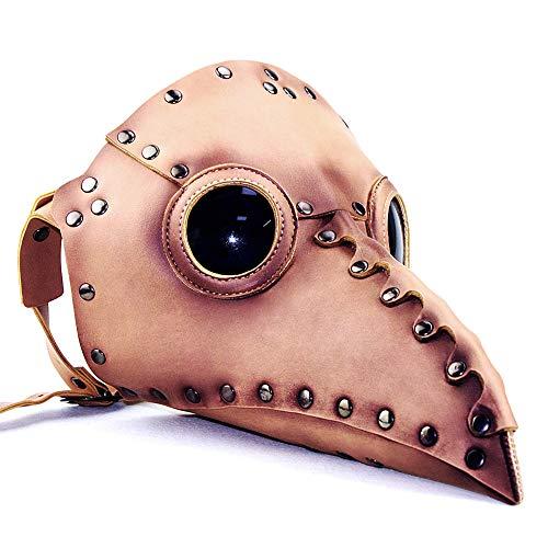 Cosplay Geschenke Halloween-Maske Kunstleder Maske Rabe Steampunk, Horror Geist Scary, Prank-Schablonen-Gesicht Scary Party, Bar Props