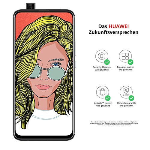 Huawei P smart Z Dual-Sim Smartphone BUNDLE (16,74 cm (6,59 Zoll), 64 GB interner Speicher, 4GB RAM, Android 9.0) midnight black + gratis 16 GB Speicherkarte [Exklusiv bei Amazon]
