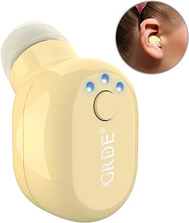 迷你无线耳塞,*小的隐形蓝牙耳机耳机带麦克风免提通话无线 USB 充电器 V4.1 迷你蓝牙耳机适用于 iPhone Android 其他手机(1PC) 0.98 * 0.71 * 0.51in GL07-khaki