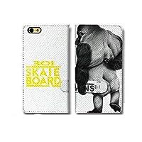 301-sanmaruichi- iPhone11 ケース 手帳型 おしゃれ ゴリラ スケボー Skate Gorilla ストリート A シボ加工 高級PUレザー 手帳ケース ベルトなし