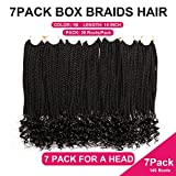 7 Packs 18 Inch Crochet Box Braids Hair with Curly Ends Prelooped...