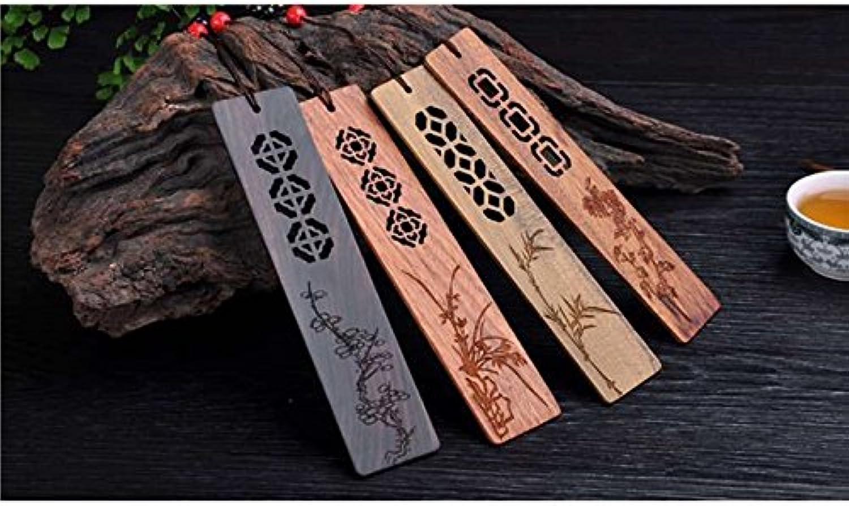 Retro-Stil handgemachte Carving Carving Carving Naturholz Lesezeichen (1 Satz von 4 Stück) DIY Zubehörset B07HQSX26R | Perfekt In Verarbeitung  b00529