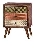 SIT-Möbel Scandi 4359-01 Kommode,3 bemalte Schubladen, aus Sheesham-Holz, natur, 45 x 60 x 33 cm