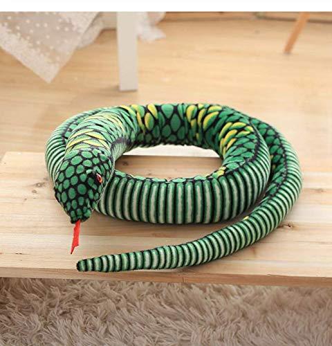 DJSK Oreiller Doux 1 pcs 2,8 mètres Simulation Serpent Serpent Peluche Poupée Boa Constrictor Jouet Enfants Cadeau Décoration de La Maison