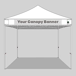 Eurmax Canopy Hanging Banner with Buckle for Easy Attach on Pop Up Canopy Tent-Faster Easier (White)