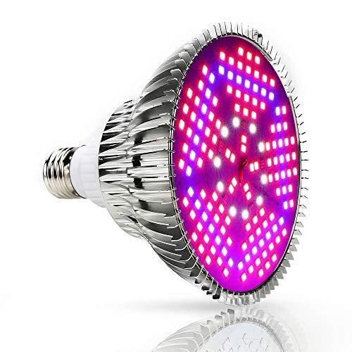 Lámpara de Plantas Iluminación 100W LED Grow Light para Plantas Cultivo Bombilla con Espectro Completo Lámpara de Crecimiento para Hidropónica Planta/Flores/Hortalizas en Interior Grow Box/Invernadero