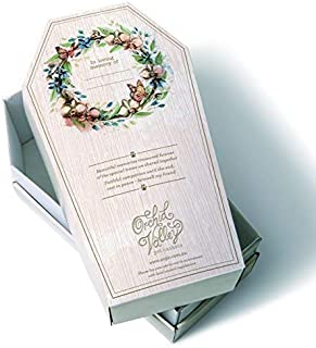 Orchid Valley Pet Casket Coffin Set Biodegradable and Eco Friendly Cardboard. Suitable for Natural Burial or Cremation.
