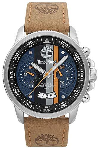 Timberland Bradshaw Reloj para Hombre Analógico de Cuarzo con Brazalete de Piel de Vaca 15423JS-03