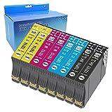 Teng 8X T0715 Cartuchos de Tinta Compatible con Epson T0711 T0712 T0713 T0714 para Epson Stylus SX235W SX425W SX435W SX445W SX535WD BX305FW Plus WF-7515