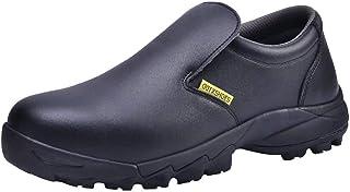 DDTX Safety Shoes for Men Smash-Proof S2 SRC Anti-Slip Food Service Work Shoes Size 2.5-12 UK