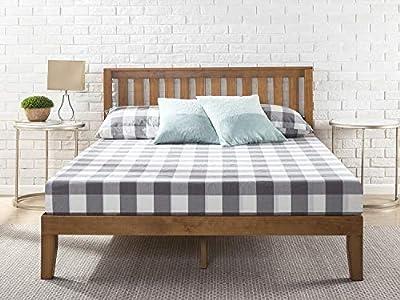 Esta cama de plataforma de madera con cabecero de paneles combina con cualquier estilo o decoración. El bastidor de 8,9cm y las patas están fabricados en madera de pino y te proporcionan un soporte óptimo para tu colchón de espuma viscoelástica, lát...