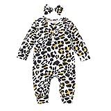 Mono de manga larga con estampado de leopardo, para bebés y niñas de 0 a 24 m
